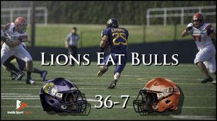 Lions (36) - (7) Bulls