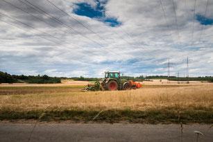Traktor auf Getreidefeld-Feldwirtschaft II
