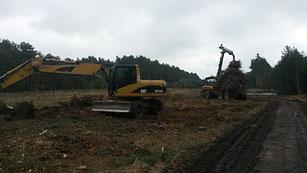 Baufeldberäumung und Baustellenvorbereitung