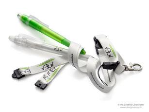 Collarino portabadge  in raso e gancio sicurezza - personalizzato logo AREA