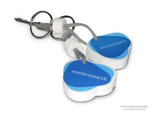 Portachiavi personalizzato Monteresearch - sagoma  su misura