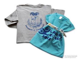 T-shirt colorate stampate davanti, retro e manica logo Lavori In corso - Provincia PN