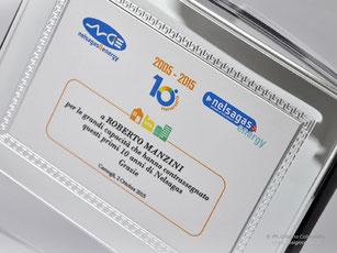 Cornice silver con decoro a greca - Premiazioni sportive  - Regali di laurea
