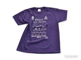 """T-shirt  bambini, kids personalizzata ad 1 colore Comune di Bientina - Evento """"Festa della Pace"""""""