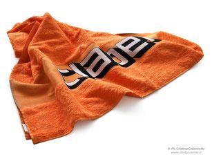 Telo spugna in cotone - logo Claber tessuto jacquard