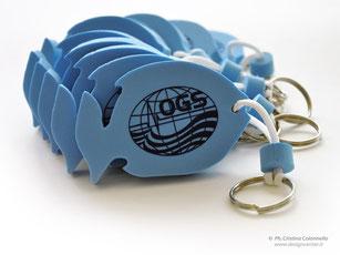 Portachiavi pesce personalizzati con logo OGS