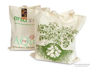shopper in cotone personalizzata su due lati ERSA Aqua