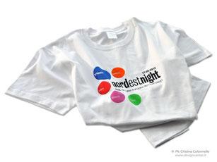 Tshirt bianca personalizzata a colori Notte dei Ricercatori TS