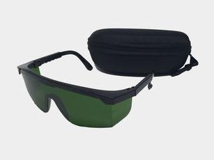付属の保護メガネ