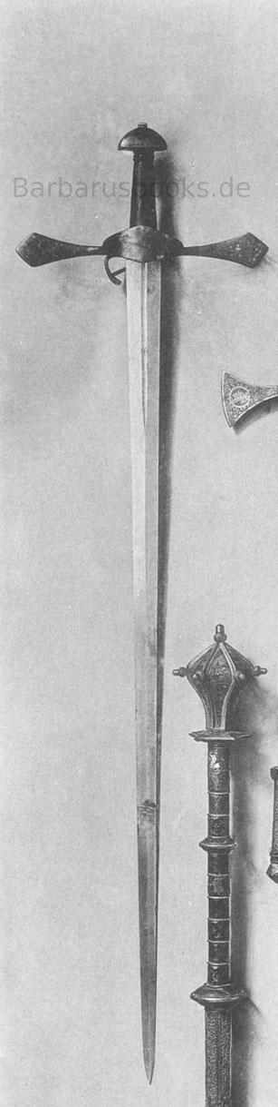 Geweihtes Schwert mit den Insignien des Papstes Julius II.