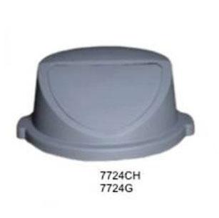 7724CH, 7724G. Tapa Abatible para Basurero Cilíndrico Gris. Capacidad: 80 litros y 120 litros