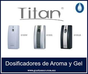 Difusores y dosificadores de aroma, y de gel TITAN