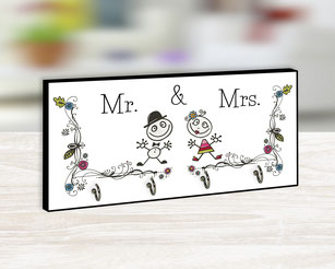 Schlüsselbrett Mr. & Mrs.