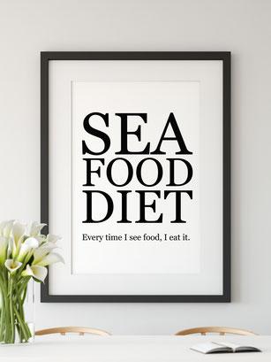 Wanddeko Diät lustig