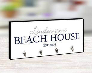 Beach House Hakenleiste personalisierbar
