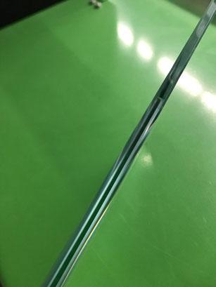 polierte Glaskante