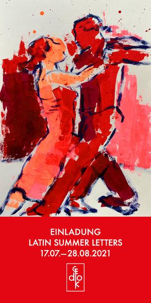 Agnes Pschorn, Serie Tango. Acryl auf Papier / 59,4 X 42 cm / 2020