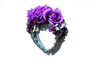 Blumenhaarreifen, Blumenkrone, Blumenkopfschmuck, Trachtenkopfschmuck, Trachtenpracht