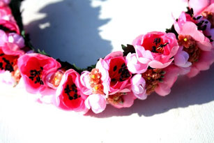 Blütenhaarband, Trachtenhaarband, Blumenkranz, Trachtenpracht