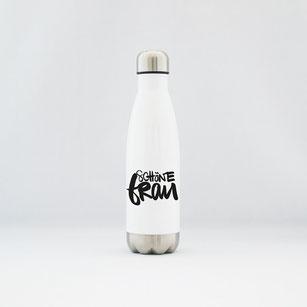 """Trinkflasche / Thermoflasche aus Edelstahl """"schöne Frau"""" kaufen"""