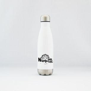 """Trinkflasche / Thermoflasche aus Edelstahl """"Namasté"""" kaufen"""