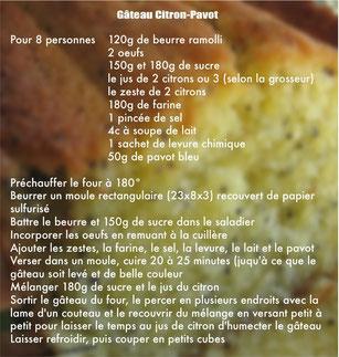Gâteau Citron-Pavot