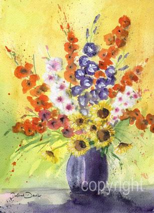 Gladiolen Sonnenblumen