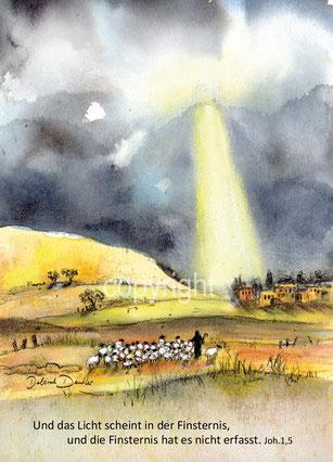 Geburt Jesu Hirte schafe Bethlehem Lichtstrahl
