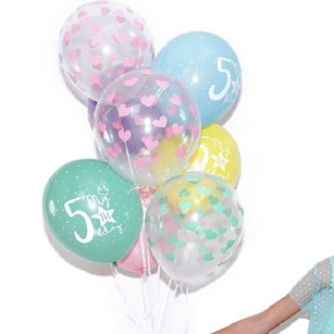 BALLONS IMPRIMES POUR DECORATION ANNIVERSAIRE - PRINTED BALLOONS FOR PARTY DECORATION