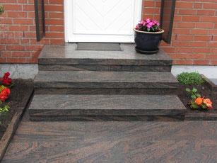 Halmstad Granit Hauseingang Treppe