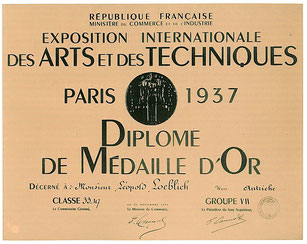 Republique Francaise Goldmedaille Weltausstellung 1937