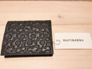 マリメッコ 黒 財布 二つ折り 北欧雑貨