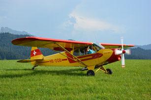 PA18 / Piper Supercub (Rundflug, Ski + Schlepp)
