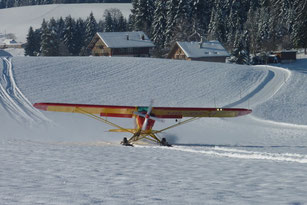 PA18 / Piper Supercub mit Ski
