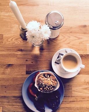 Becher Kaffee Muffin Cookie Fahrradcafé Hannover