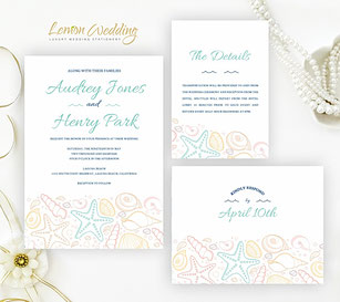 starfish wedding invitations