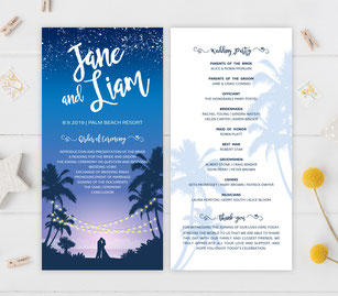 tropical wedding programs