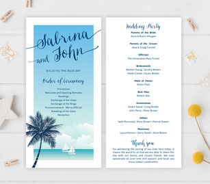 destination wedding ceremony programs