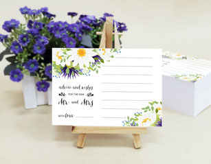 advice and wishes wedding cards
