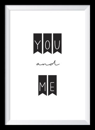 Typografie Poster Liebe, you and me