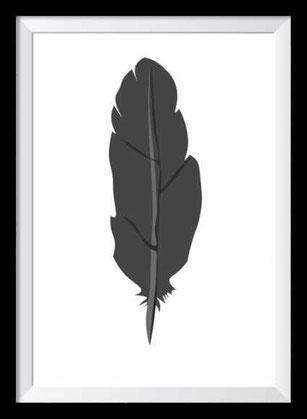 Illustration - schwarz-weiß Feder