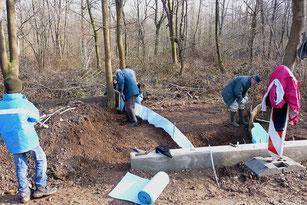 Bau eines Amphibientunnels im Merkener Busch