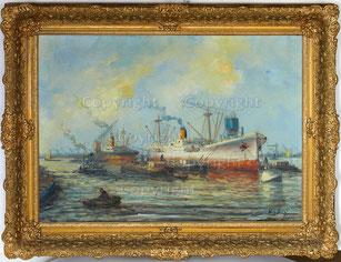 Nr.2078  Hafen-Szene Rotterdam