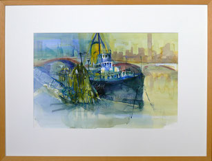 """Nr.1990;    """"London2, Auf der Themse 2002"""""""