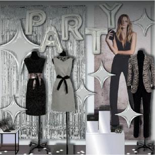 décor vitrine mode noel