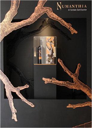 conception creation, set design decor scénographie, retail, vitrine luxe vins spiritueux
