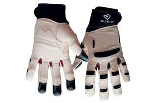 Bionic Gartenhandschuhe für Frauen. Lederhandschuhe mit denen man auch feine Jätearbeiten erledigen kann. Bei www.the-golden-rabbit.de