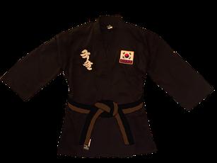 Cinturón marrón negro