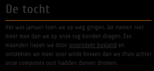 webdesign: contrast