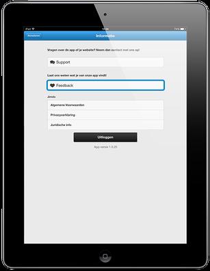 Feedback voor Jimdo app